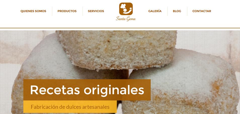 DiseñoWebProductosSantaGema - Jaime Carrero