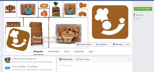 FacebookProductosSantaGema