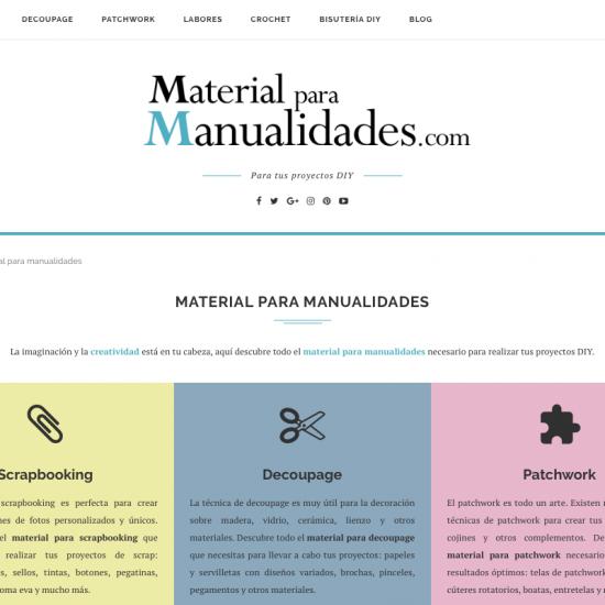 Diseño web con Wordpress del blog Material para Manualidades