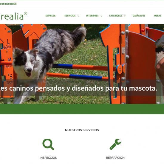 Diseño web responsive y gestión de contenidos para Krealia Gestión