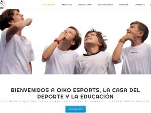 Diseño y contenido web OIKO Esports
