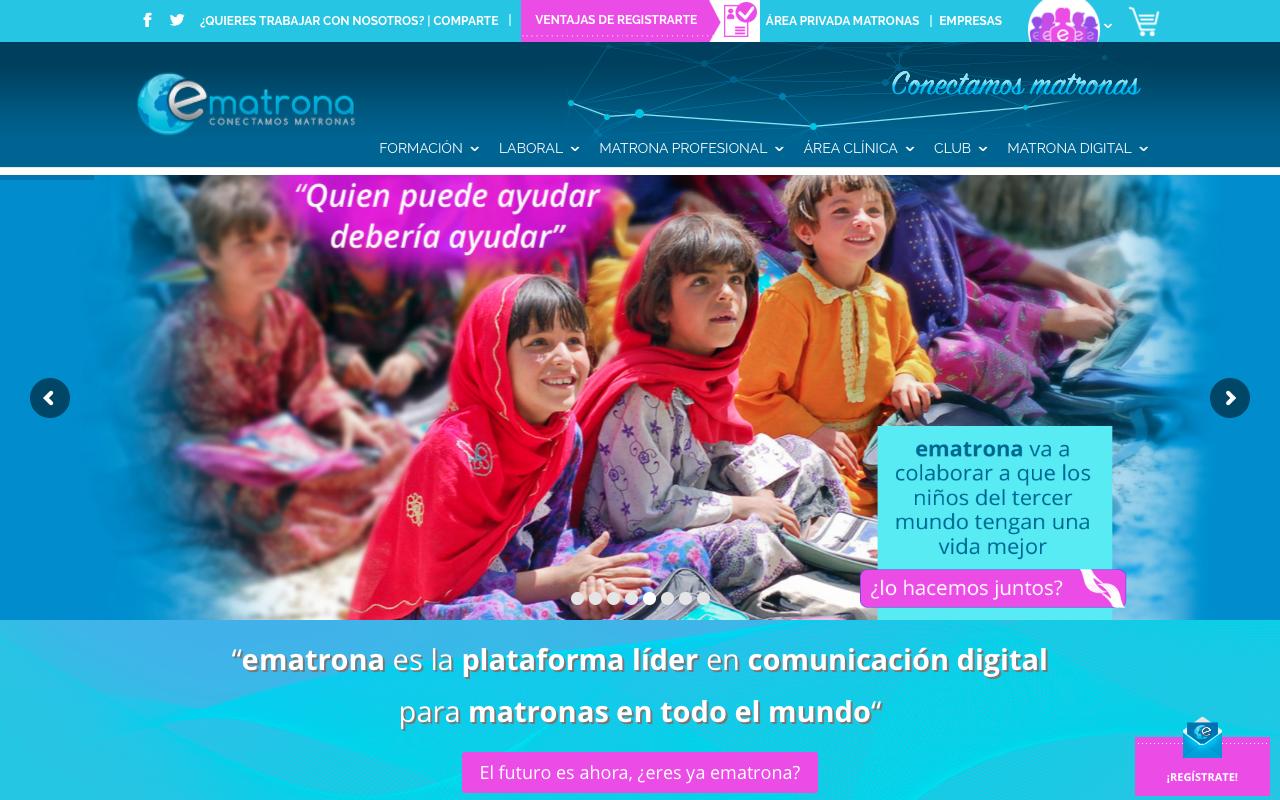 Consultoría y gestión de contenidos para www.matrona.com