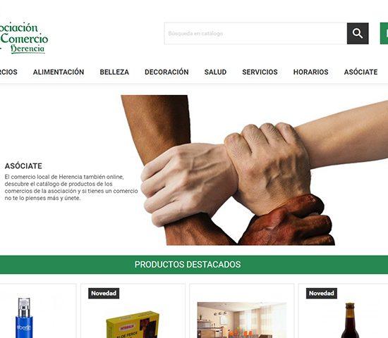 Diseño y desarrollo Ecommerce de Herenciashop