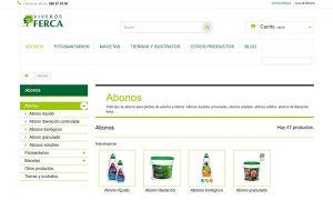 Diseño y desarrollo Ecommerce para Viveros Ferca
