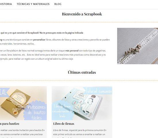 Diseño y desarrollo web de Scrapbook
