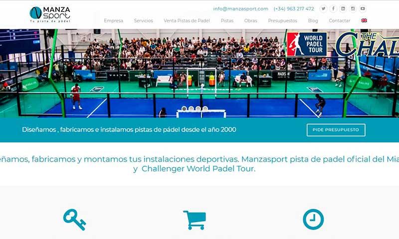 Rediseño de web ManzaSport
