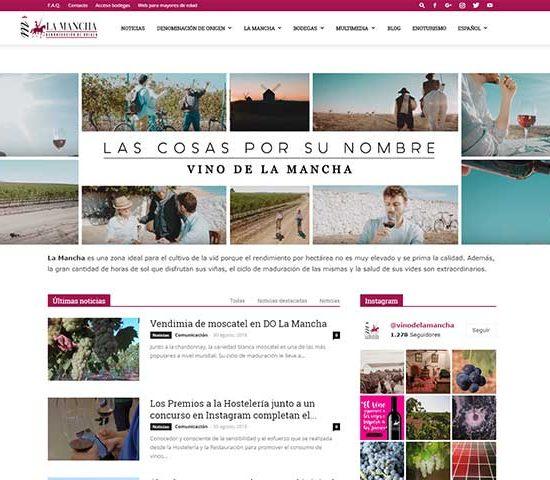 Rediseño web para La Mancha Wines